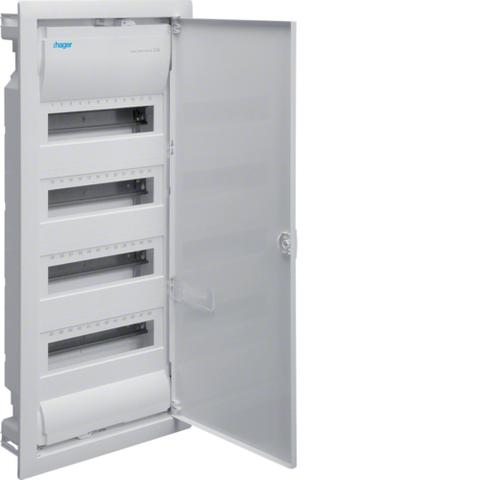 Щиток для сплошных стен,Volta,IP30,4x12М,DIN43871, глубина уст 90мм, RAL9010