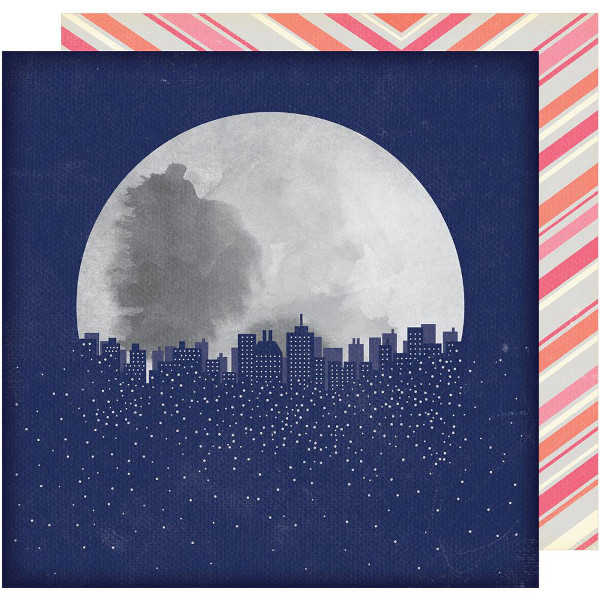 Лист двусторонней  бумаги  30х30см Shimelle Starshine by American Crafts