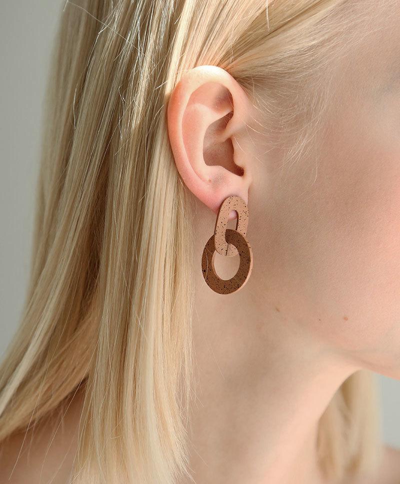 Серьги Orla I Earrings in Terracotta