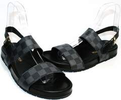 Мужские летние сандали Louis Vuitton 1008 01Blak.