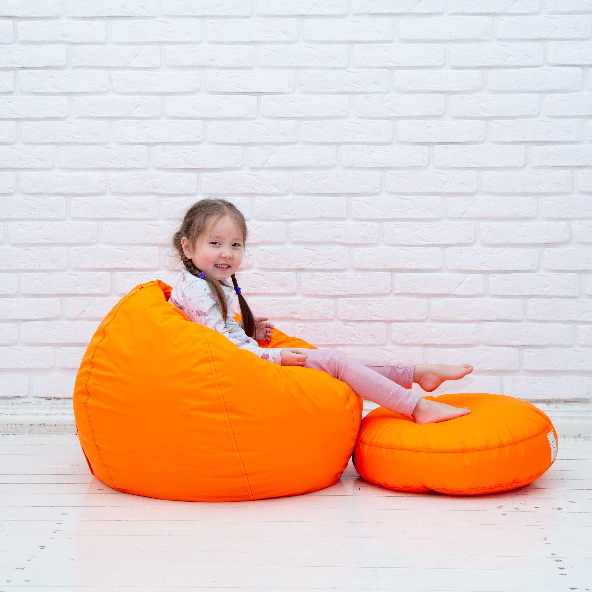 Плюшка плащёвка 50*10 см (оранжевая)
