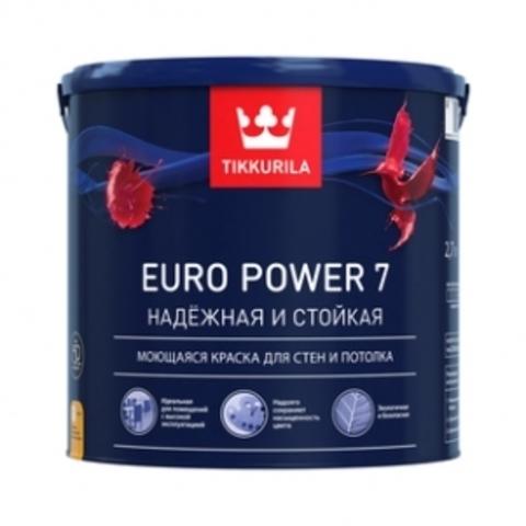 Краска интерьерная стойкая к мытью Тиккурила Euro Power 7 A матовая 0,9л