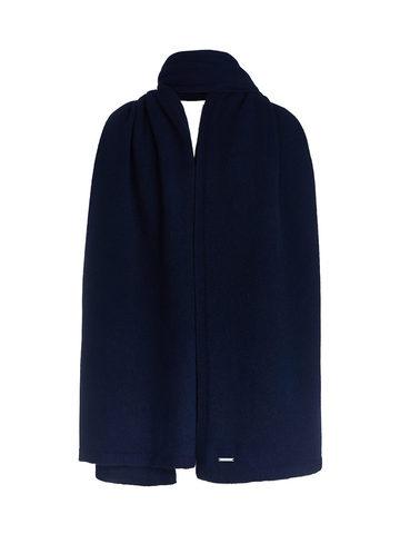 Женский шарф темно-синего цвета из 100% кашемира - фото 1
