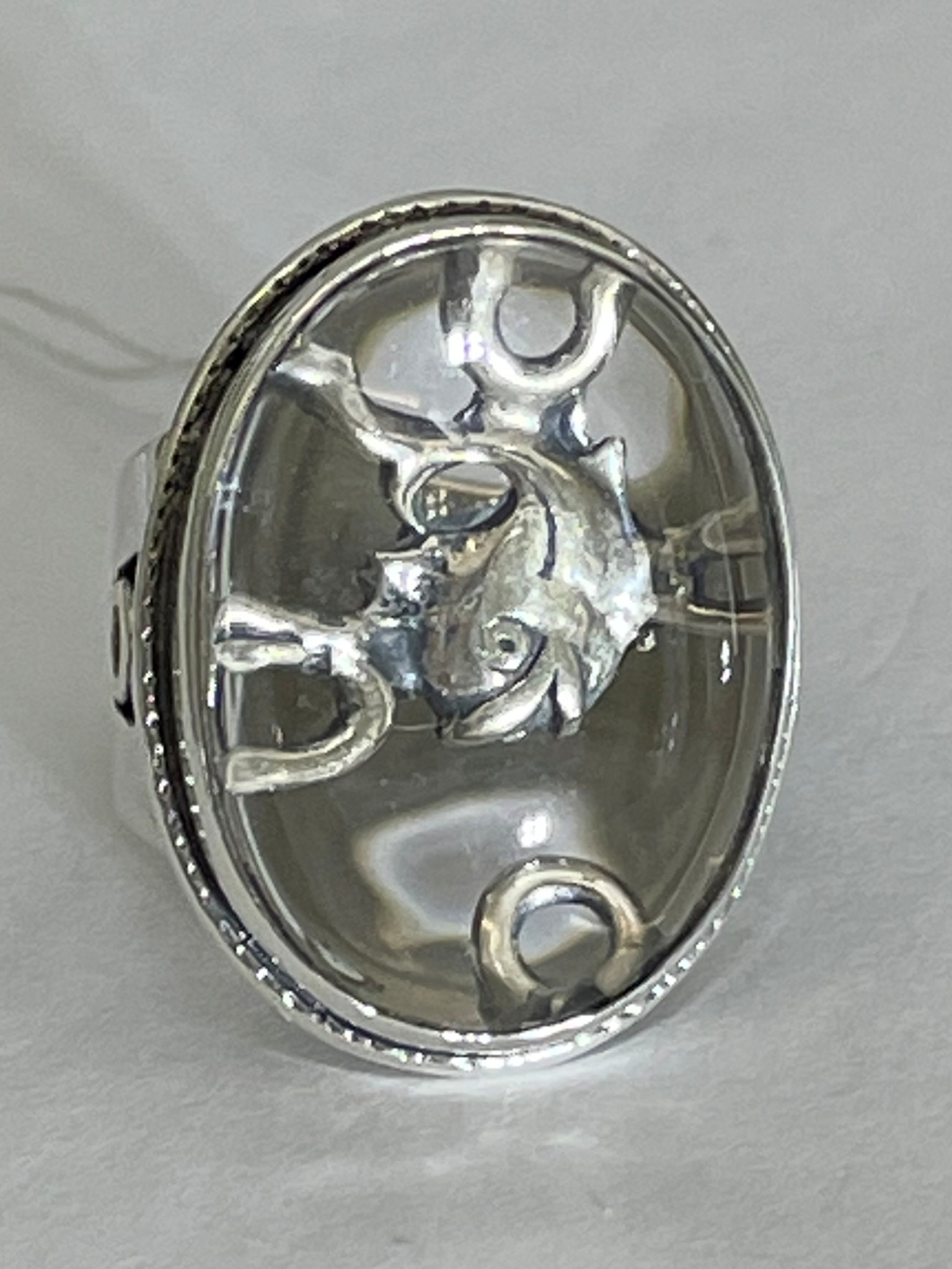 Дельфин (кольцо из серебра)