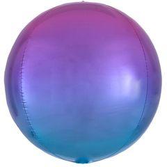 А Сфера 3D,Омбре, Розово- Голубой, 16