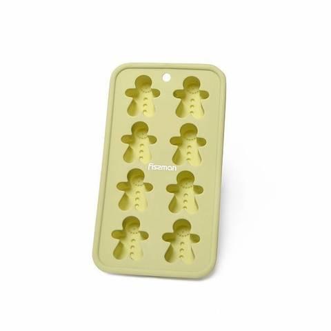 """6578 FISSMAN Форма для 8 кексов/шоколада """"Человечки"""" 20x11x2.5, силикон,  купить"""