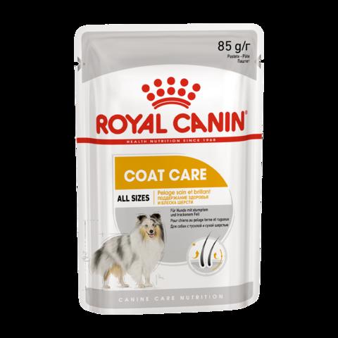 Royal Canin Coat Care Консервы для для собак с тусклой и сухой шерстью , Паштет