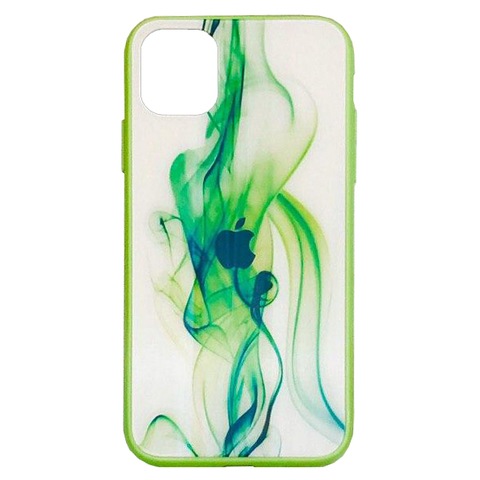 Чехол iPhone 11 Pro Polaris smoke Case Logo /green/