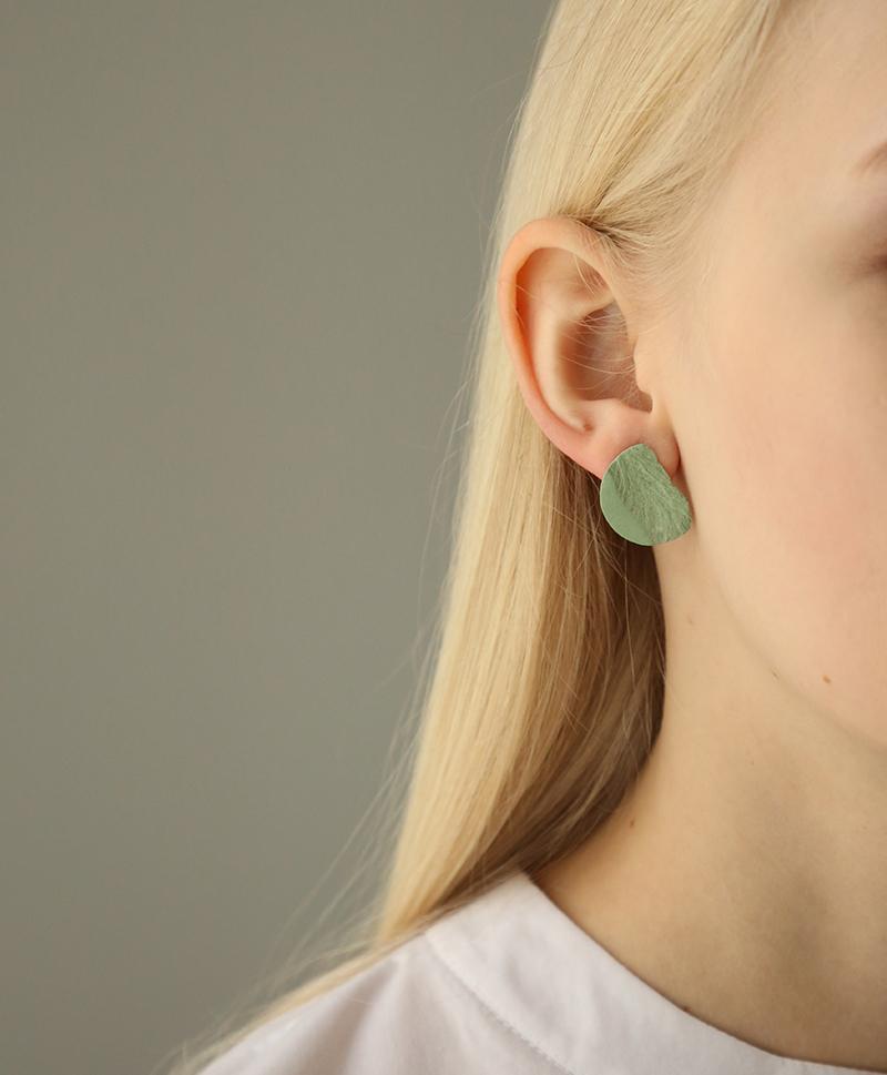 серьги-зеленые-круглые