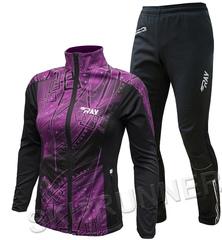 Утеплённый лыжный костюм RAY Pro Race WS Violet Print-Black женский