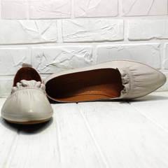Туфли женские лодочки балетки натуральная кожа Wollen G036-1-1545-297 Vision.
