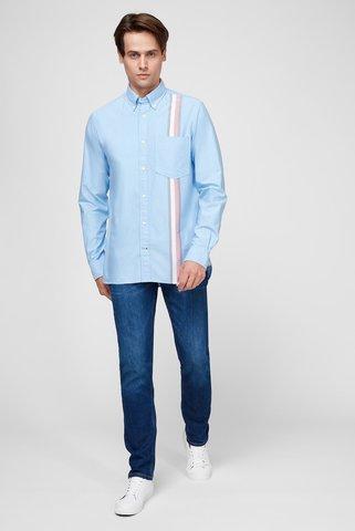 Мужская голубая рубашка ENGINEERED STRIPE OXFORD Tommy Hilfiger