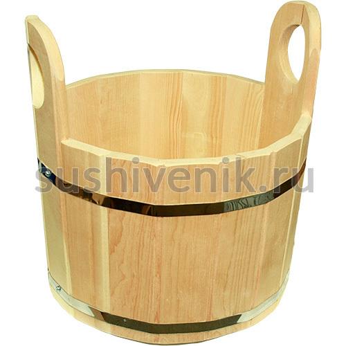 Шайка 15 литров кедр