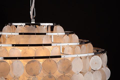 Люстра с перламутром 3535/6 хром / перламутр