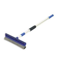 Швабра для мытья окон ЭкоКоллекция с губкой и сгоном (рабочая часть 25 см, рукоятка 120 см)