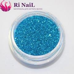 Дизайн для ногтей голубой.