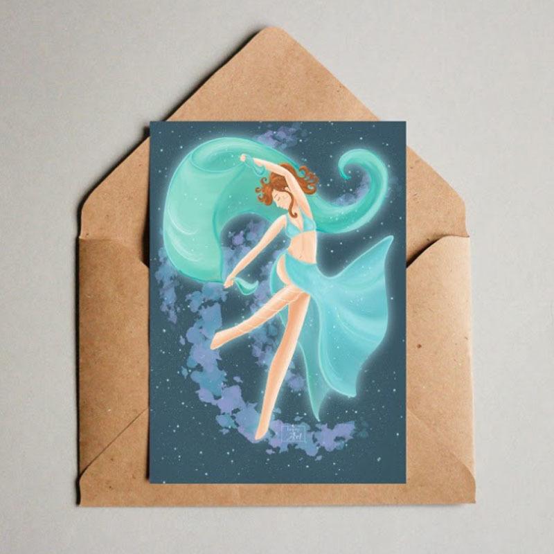 Фотография Открытка авторская почтовая «Танцовщица» / 10*15 см купить в магазине Афлора