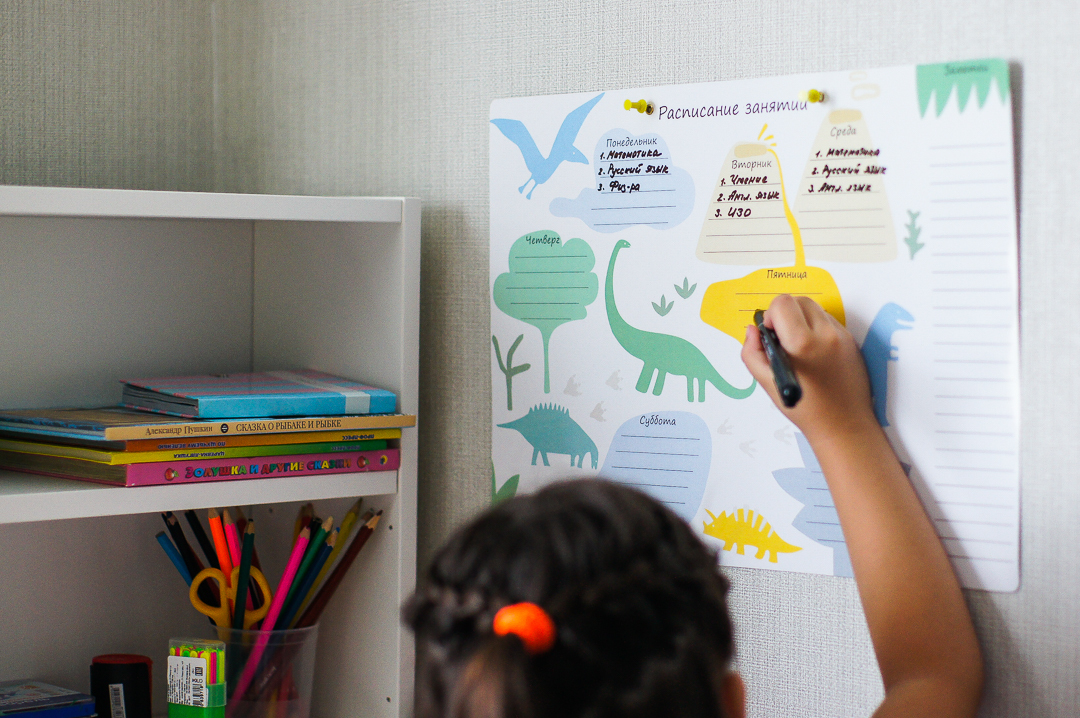 """Расписание уроков """"Динозавры"""" 29,7х42 см"""