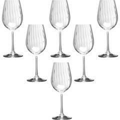 Набор бокалов для вина «Waterfall» 6 шт. 350 мл, фото 1