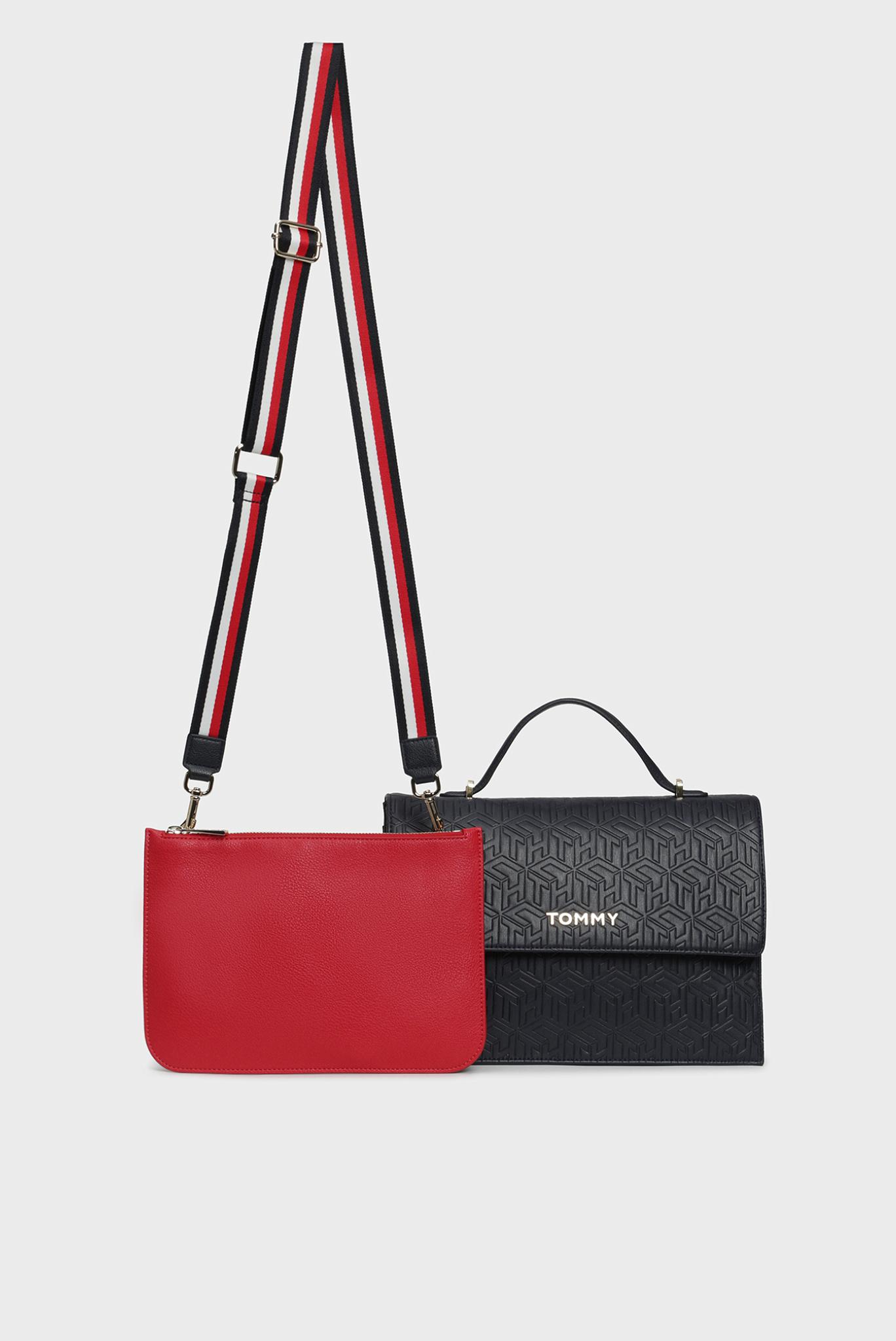 Женская темно-синяя сумка через плечо 2 в 1 TOMMY PARTY SATCHEL Tommy Hilfiger