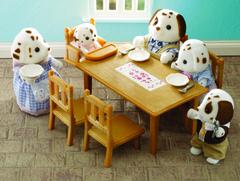 Набор «Обеденный стол с 5-ю стульями» Sylvanian families 4506 (2933)