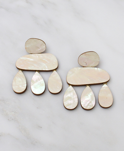 Серьги Cloud Earrings Mother of Pearl