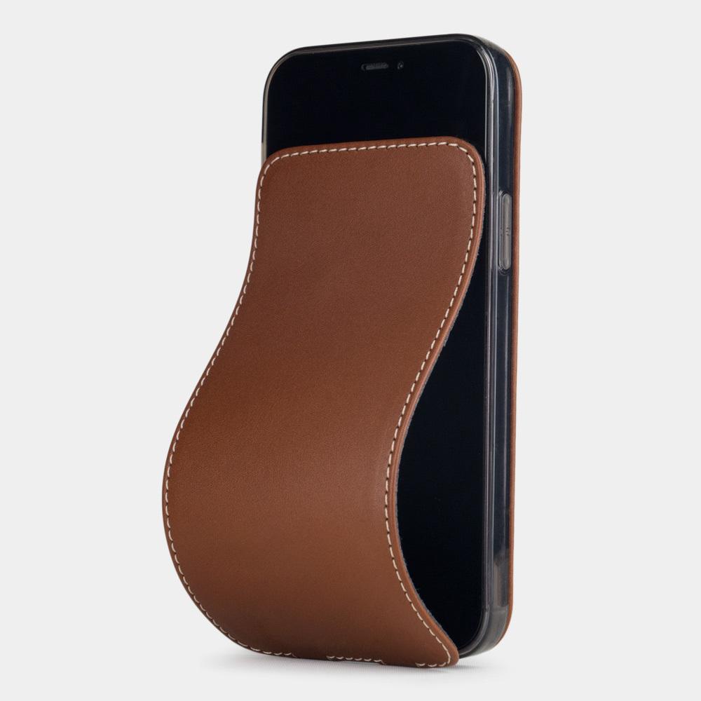Special order: Чехол для iPhone 12/12Pro из натуральной кожи теленка, коричневого цвета