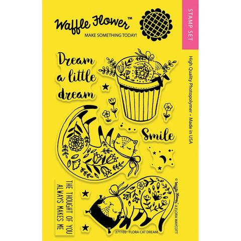 Набор штампов Waffle Flower Crafts Clear Stamps - Flora Cat Dream