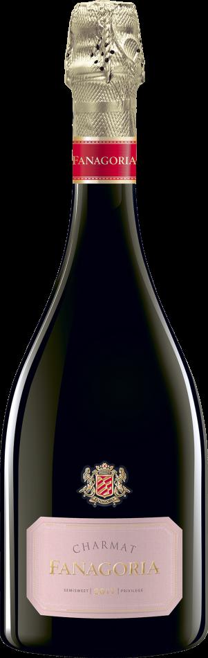 Игристое вино полусладкое розовое
