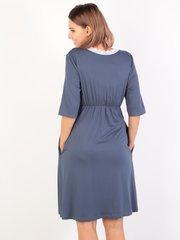 Euromama/Евромама. Комплект для беременных и кормящих с коротким рукавом и кружевом вискоза, джинс вид 3