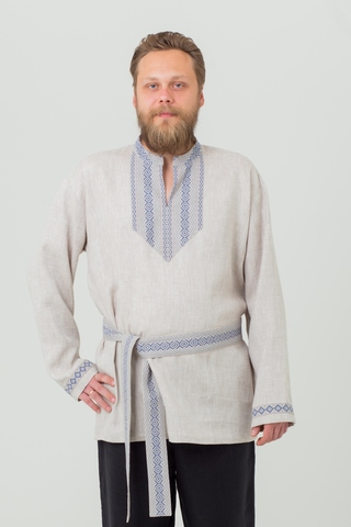 Мужская рубаха Льняной дождь