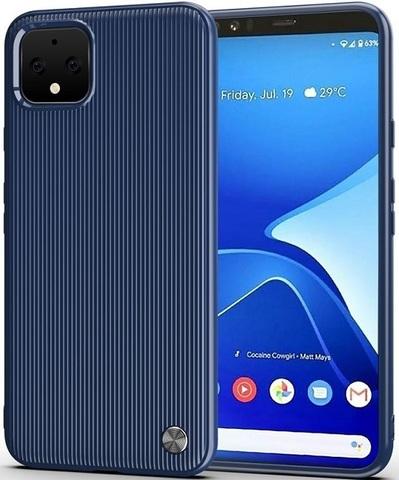 Чехол на Google Pixel 4 цвет Blue (синий), серия Bevel от Caseport