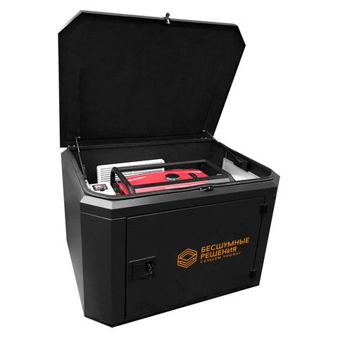 Готовый комплект аварийного питания на 7 кВт бензиновый генератор FUBAG BS7500A ES в еврокожухе SB1200 с блоком байпас (блоком ручного переключения) зимний
