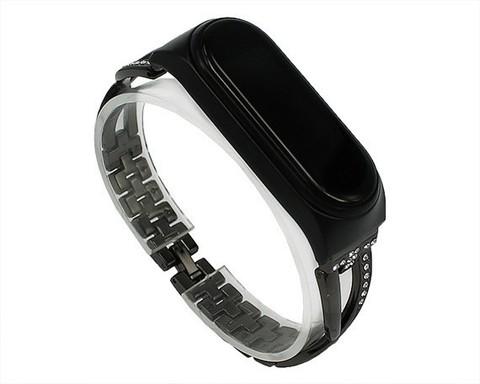 Ремешок для Xiaomi Mi Band 3/4 Леди | сталь черный