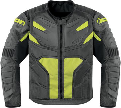 Мотокуртка - ICON OVERLORD RESISTANCE (текстиль, серо-зеленая)