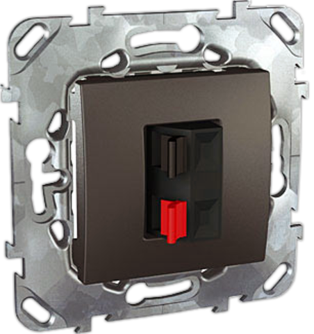 Аудиорозетка. Цвет Графит. Schneider electric Unica Top. MGU5.486.12ZD