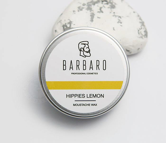 RAZ1009 Воск для усов Barbaro «Hippies lemon», 12 гр