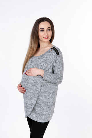 Джемпер для беременных 08884 серый