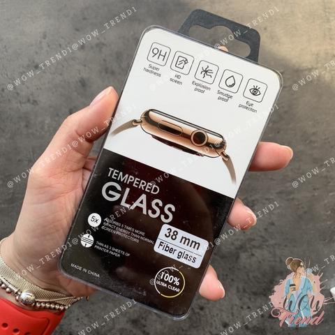 Стекло защитное 3D Full Fiber Apple watch 38mm /black/