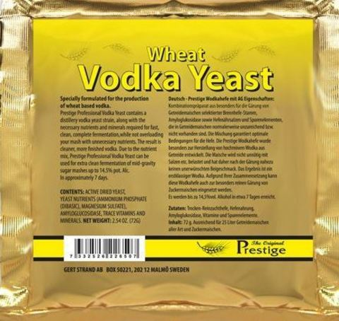 Спиртовые дрожжи Wheat Vodka yeast