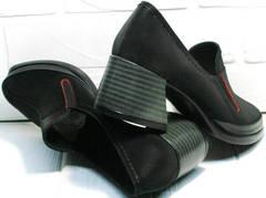 Турецкие туфли женские невысокий каблук 6 см осень весна H&G BEM 167 10B-Black.