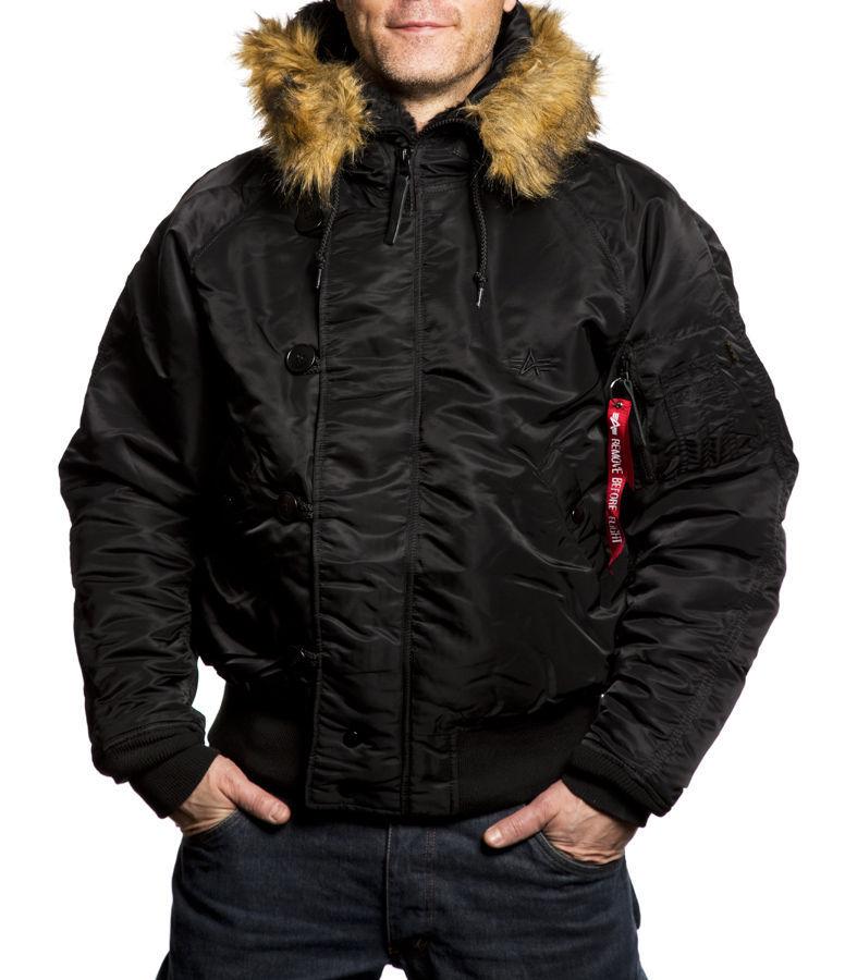 Куртка Мужская Alpha N-2B Flight Jacket (черная - black)