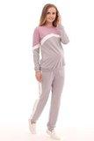 Спортивный костюм для беременных 09964 лиловый/серый