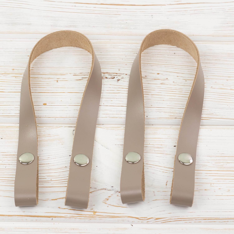 """Вся фурнитура Ручки кожаные на кнопках для сумки """"Мускат"""" 2 штуки. IMG_0015_1.jpg"""