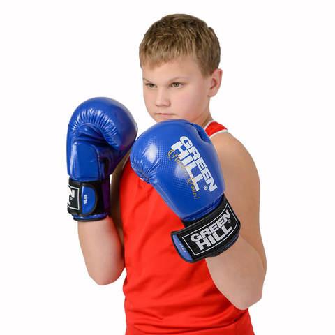Перчатки боксерские Panther BGP-2098, Green Hill синие