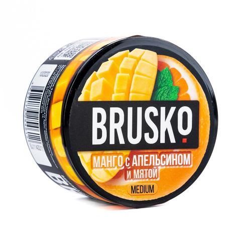 Кальянная смесь BRUSKO 50 г Манго с Апельсином и Мятой