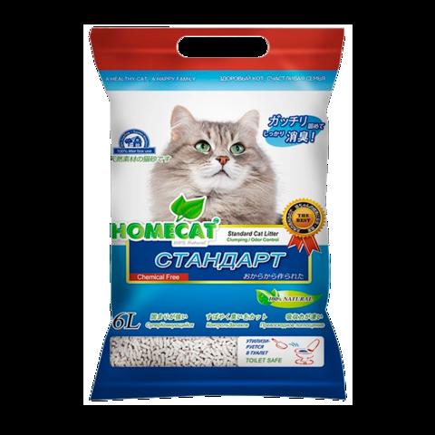 Homecat Eco Line Standart Наполнитель для кошачьих туалетов комкующийся без запаха