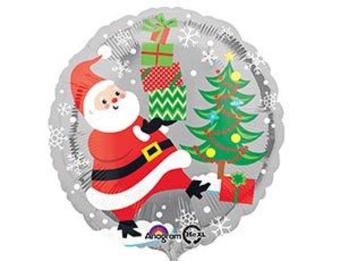 Фольгированный шар Санта снеговик и пингвины