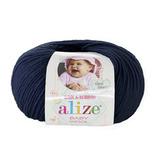 Пряжа Alize Baby Wool темно-синий 58