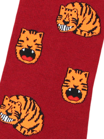 Носки Тигр бордовый